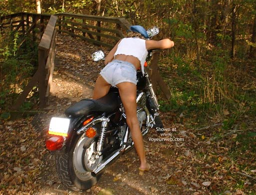 Pic #4 - Chloe On Harley Davidson