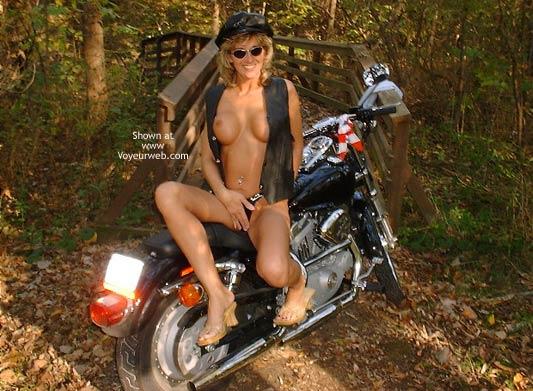 Pic #7 - Chloe On Harley Davidson