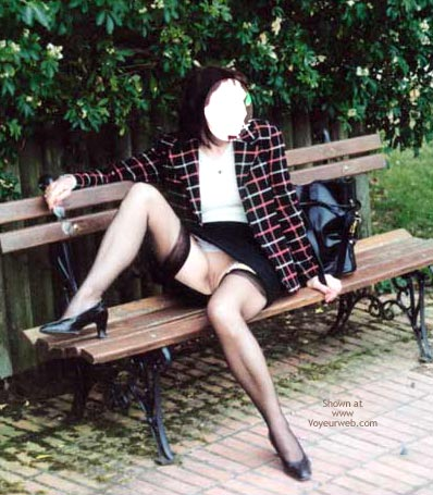 Pic #2 - Masked Ninja Exposes Herself Outdoors