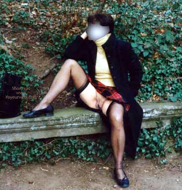 Pic #6 - Masked Ninja Exposes Herself Outdoors