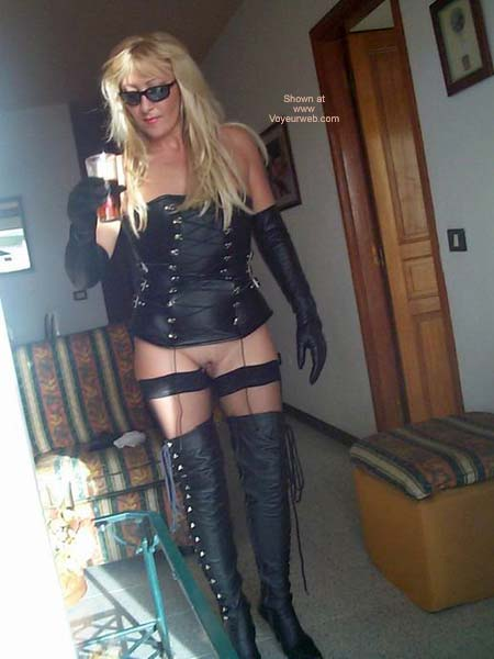 Pic #4 - Leather Boots And Stockings For The Public To See