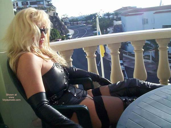 Pic #5 - Leather Boots And Stockings For The Public To See