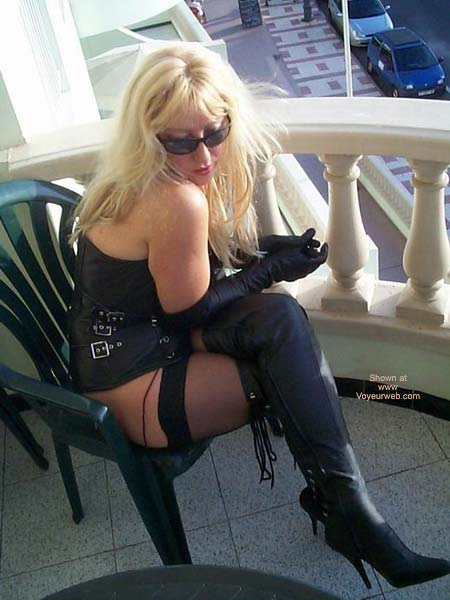 Pic #6 - Leather Boots And Stockings For The Public To See