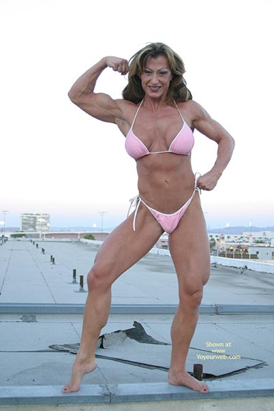 Pic #2 - Gina Shows Muscle And More