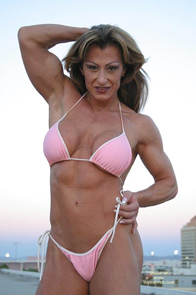 Pic #3 - Gina Shows Muscle And More