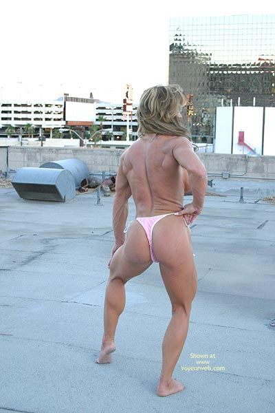 Pic #4 - Gina Shows Muscle And More