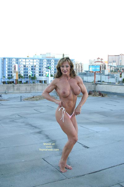 Pic #5 - Gina Shows Muscle And More
