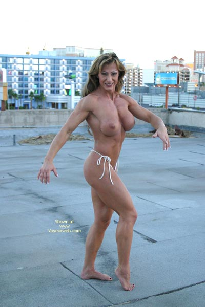 Pic #6 - Gina Shows Muscle And More