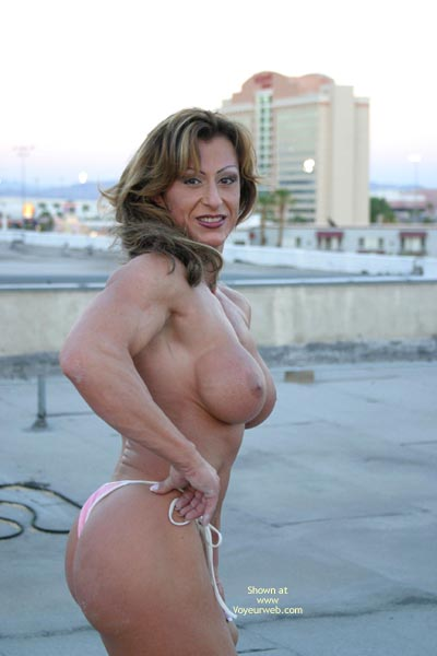 Pic #7 - Gina Shows Muscle And More
