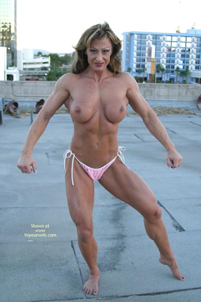 Pic #8 - Gina Shows Muscle And More