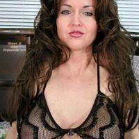 Nadine in New Black Lingerie