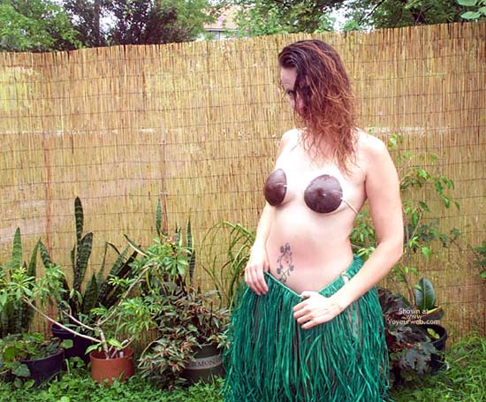 Pic #2 - Grass Skirt and Coconut Bra
