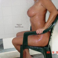 Torso On A Chair - Chair, Wet