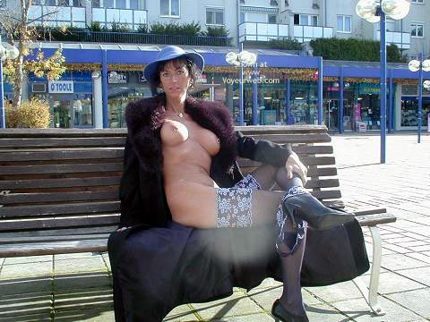 Pic #1 - Exhibitionist - Exhibitionist, Nude In Public , Exhibitionist, Nude In Public, Fur Coat No Knickers, Exposed In Front Of Shops