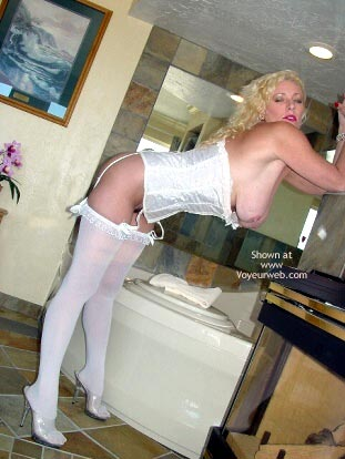 Pic #4 - Nasty Ashley in Her White Corset!