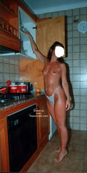 Pic #7 - Susan Relaxing & Cooking For The Boys