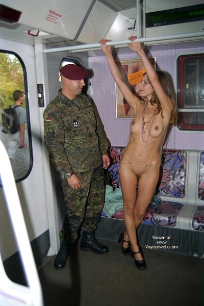 Pic #9 - *FP Jeanette Flashing in Berlin Subway