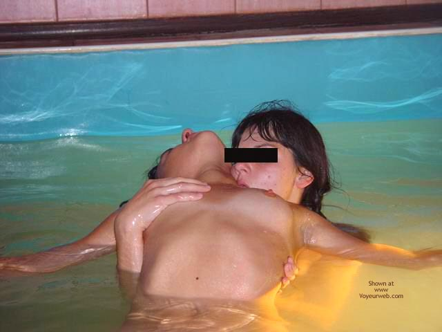 Pic #9 - *GG Kissing in The Pool