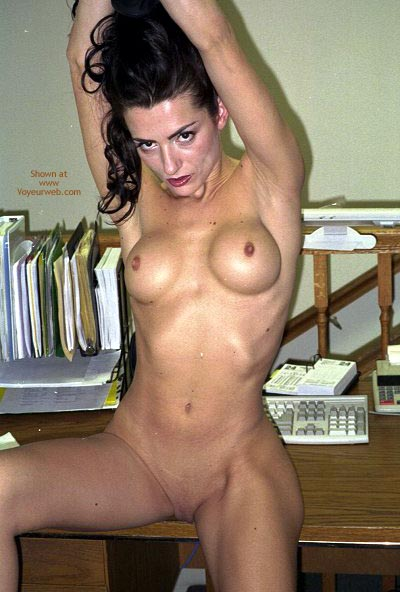 Pic #1 - Slim And Fine - Shaved Pussy , Slim And Fine, Shaved Pussy, Naked At Work, Round Tits, Small Hard Nipples