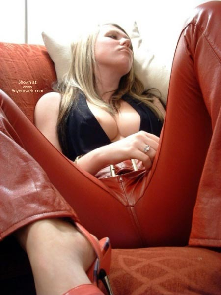 Pic #3 - Young Busty Babe in Leather