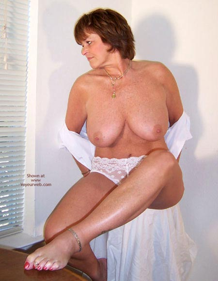 Pic #3 - Claire Removes White Shirt And Panties