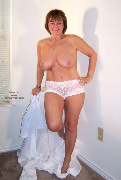 Pic #4 - Claire Removes White Shirt And Panties