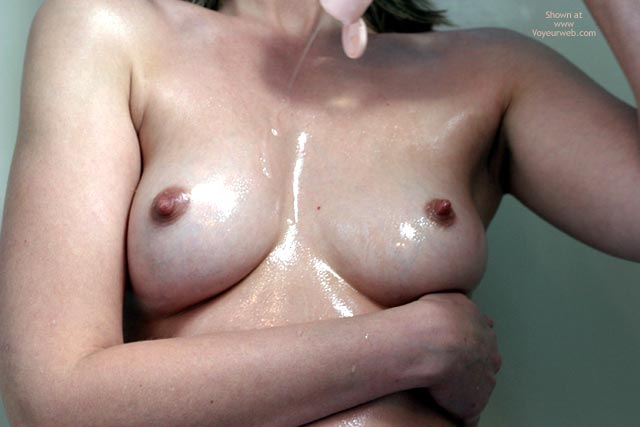 Pic #3 - Sexxy Blonde Wife Oiled In Shower
