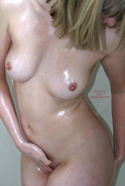 Pic #8 - Sexxy Blonde Wife Oiled In Shower