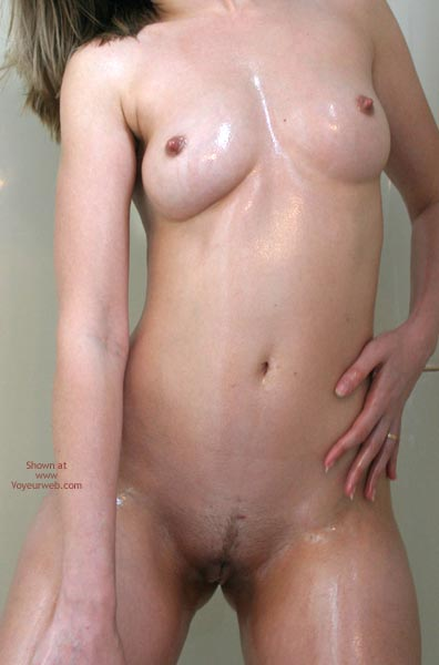 Pic #10 - Sexxy Blonde Wife Oiled In Shower