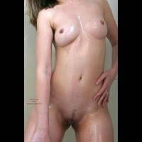 Sexxy Blonde Wife Oiled In Shower