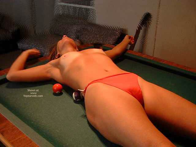 Pic #10 - Shy Wife On The Pool Table