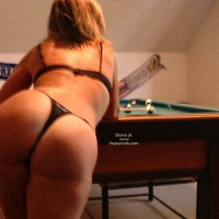 Shy Wife On The Pool Table