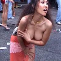 Long Dark Hair - Dark Hair, Nipple Slip, Nude In Public