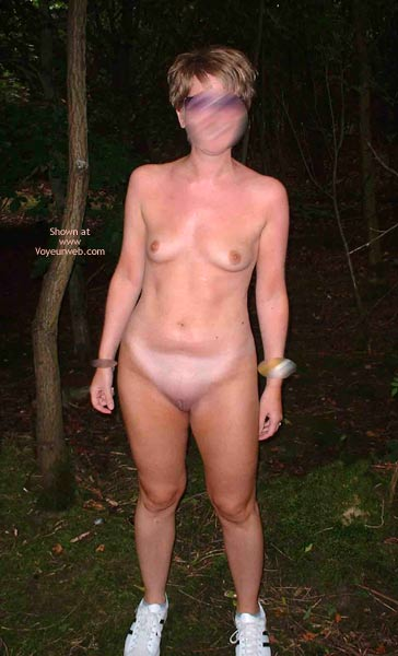 Pic #7 - Kelly Shows It All in The Woods