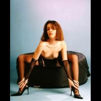 Black Stockings - Brunette Hair, Heels, Stockings