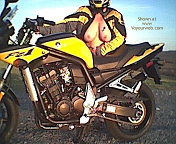 Pic #2 - Naked Sportbike and Bare Breasted Wife