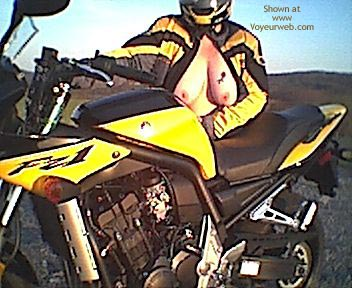 Pic #3 - Naked Sportbike and Bare Breasted Wife