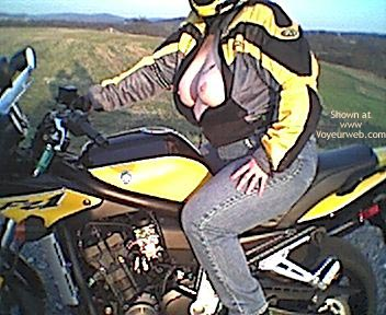 Pic #8 - Naked Sportbike and Bare Breasted Wife