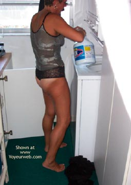 Pic #4 - Maria Tidying Up