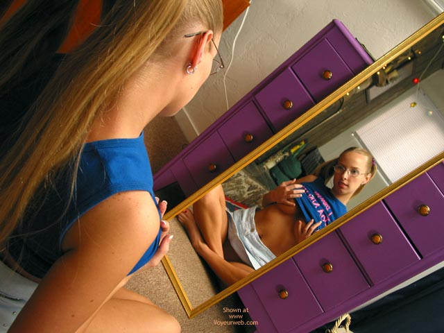 Pic #3 - Brittney Examines Herself In Mirror Cont