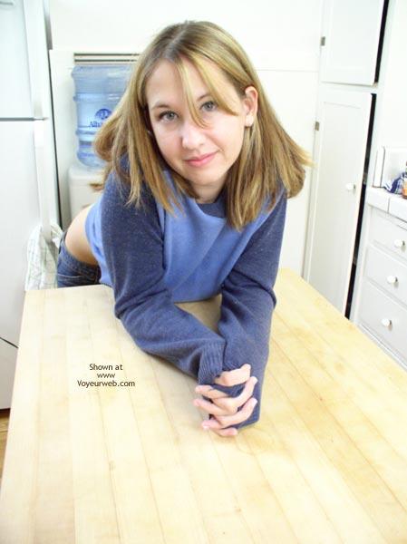 Pic #1 - Kira 19 Yo In The Kitchen
