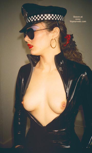 Pic #3 - W. PVC Pam in Black Cop Outfit
