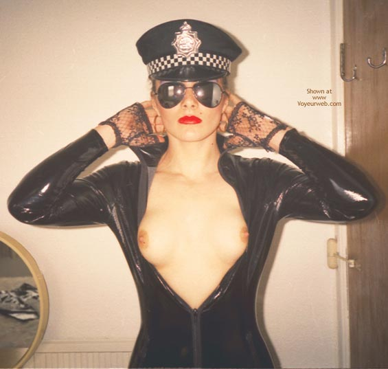 Pic #7 - W. PVC Pam in Black Cop Outfit