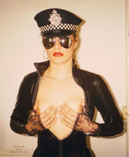 Pic #8 - W. PVC Pam in Black Cop Outfit