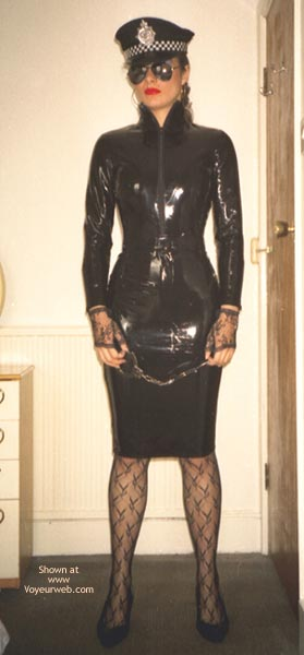 Pic #9 - W. PVC Pam in Black Cop Outfit