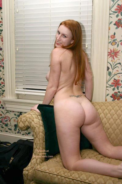 Pic #3 - Redhead On The Couch