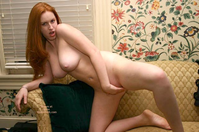 Pic #5 - Redhead On The Couch