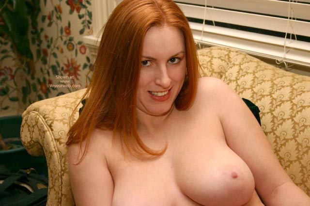 Pic #8 - Redhead On The Couch