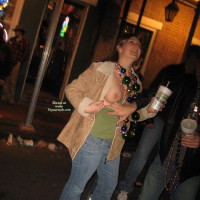 Mardi Gras Girl - Flashing