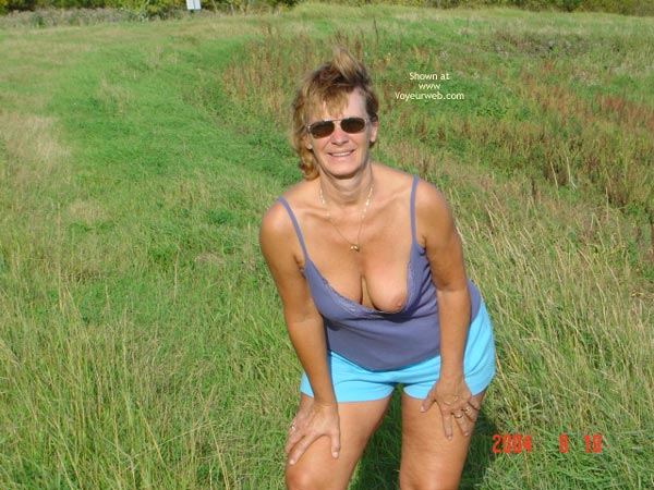 Pic #2 - 58 Year Old Canadian Wife Outdoors